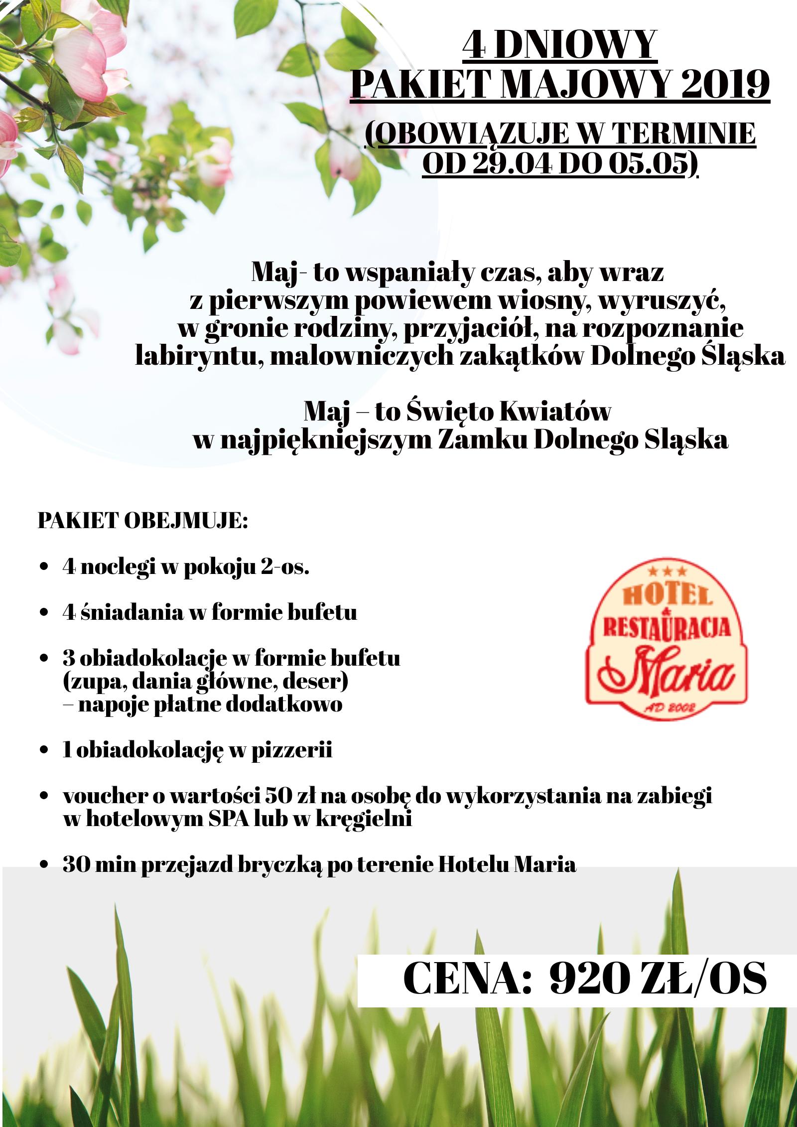 O Nas Hotel Restauracja Spa Maria Wałbrzych